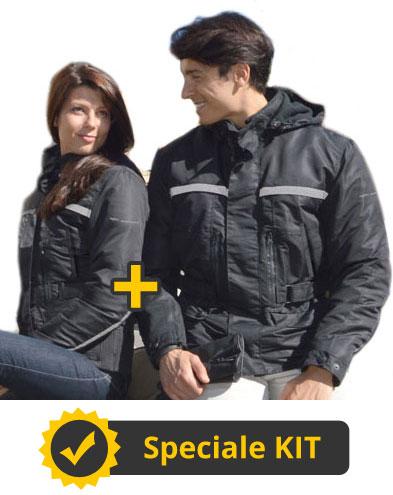 Kit TwoFlash - Giacca moto uomo + Giacca moto donna - Befast Flash