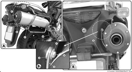 Portavaligie laterale KLX532 per Monokey side K33 per Suzuki