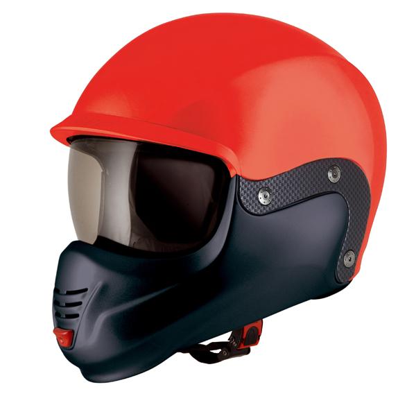 Casco moto Suomy 3LOGY doppia omologazione P-J rosso fluo
