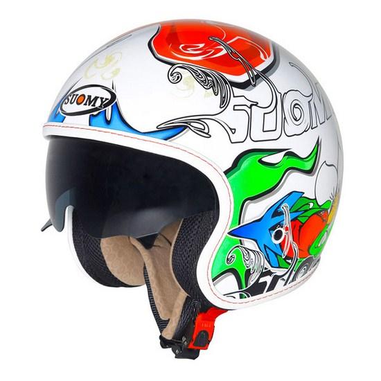 Casco moto Suomy Jet 70's White Drake