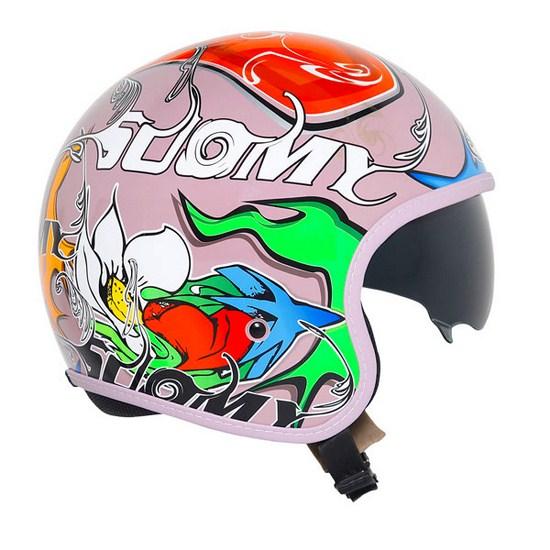 Suomy Jet 70's Pink Drake jet helmet