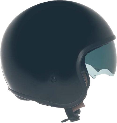 Casco moto Suomy JET 70's  Plain nero lucido