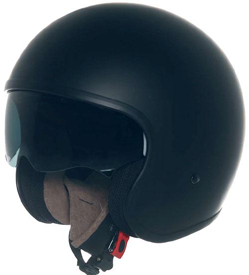 Casco moto Suomy JET 70's  Plain nero opaco