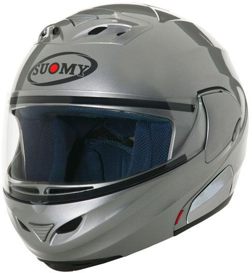 Casco moto modulare Suomy D20 Plain argento