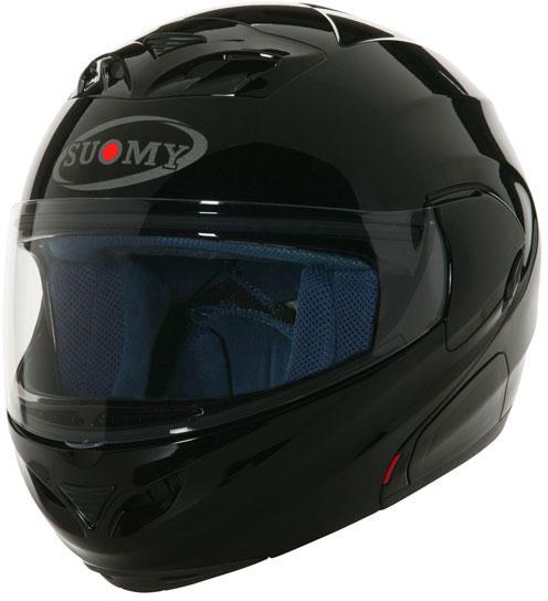 Casco moto modulare Suomy D20 Plain nero lucido