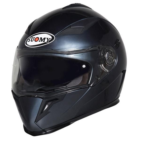 Casco moto integrale Suomy Halo Plain antracite