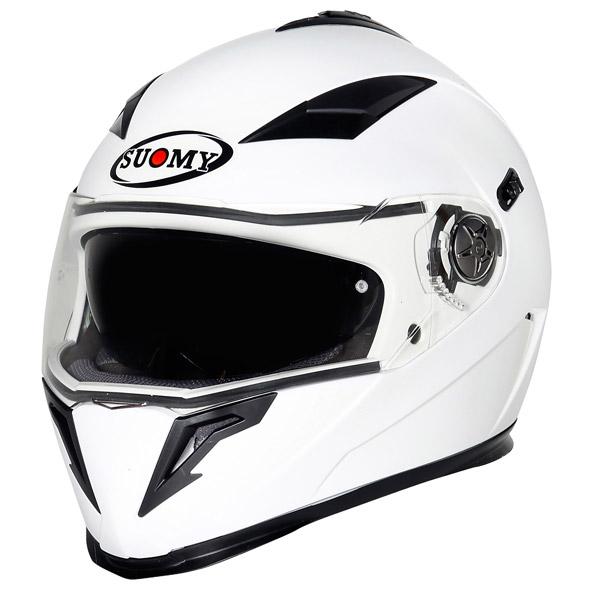 Casco moto integrale Suomy Halo Plain bianco