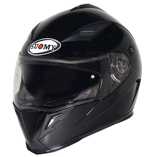 Casco moto integrale Suomy Halo Plain nero