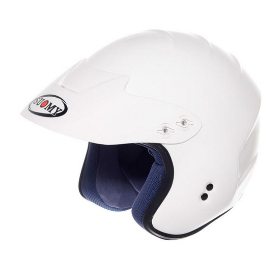 Casco moto Trial Suomy Freewind Plain bianco