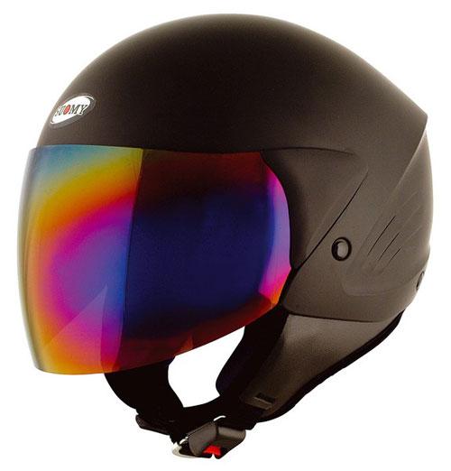 Casco moto Suomy Jet Light Plain nero opaco