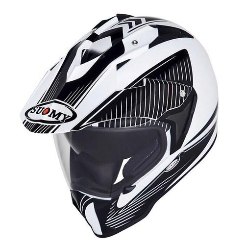 Casco moto enduro Suomy Mx Tourer Special bianco nero