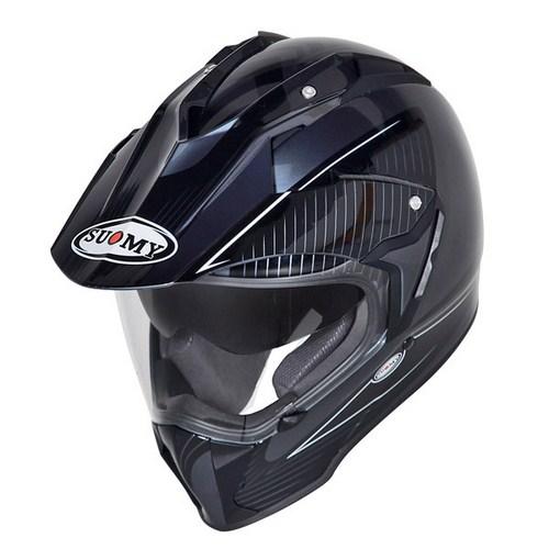 Casco moto enduro Suomy Mx Tourer Special nero antracite