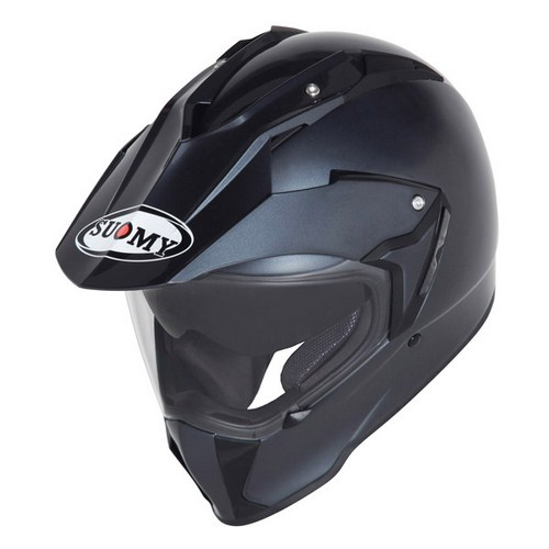 Casco moto enduro Suomy Mx Tourer Mono Antracite