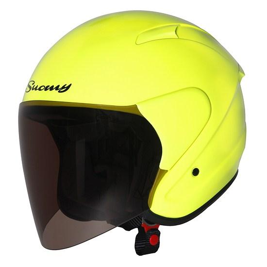 Suomy City Tour jet helmet giallo fluo