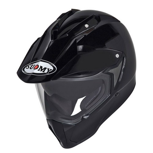 Casco moto enduro Suomy Mx Tourer Mono nero