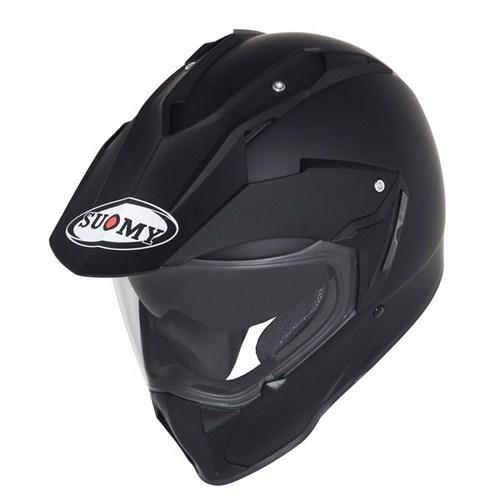 Casco moto enduro Suomy Mx Tourer Mono nero opaco
