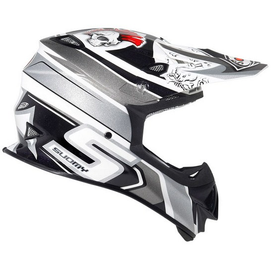 Casco moto cross Suomy MR Jump Lazyboy grigio