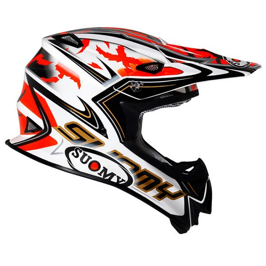 Casco moto cross Suomy MR Jump Catwalk rosso