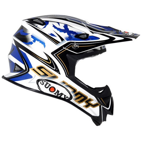 Casco moto cross Suomy MR Jump Catwalk blu