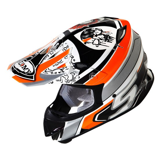 Casco moto cross Suomy MR Jump Lazyboy arancio