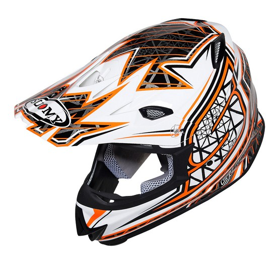 Casco moto cross Suomy MR Jump S-Line arancio
