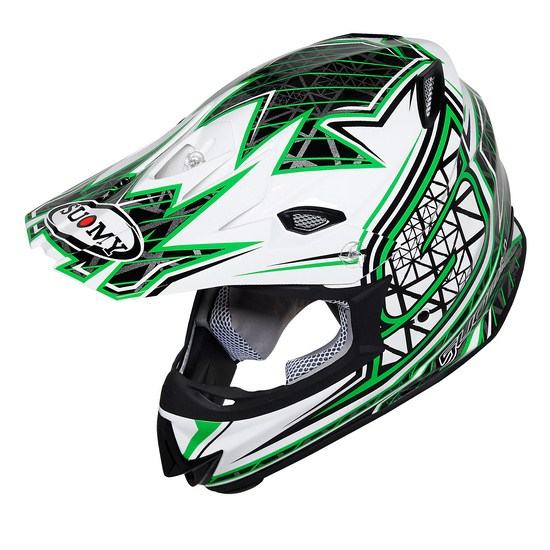 Casco moto cross Suomy MR Jump S-Line verde
