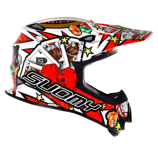 Casco moto cross Suomy MR Jump Jackpot Bianco