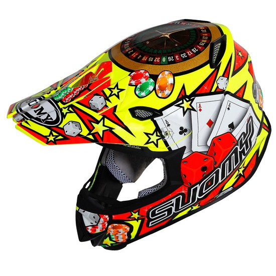 Casco moto cross Suomy MR Jump Jackpot Giallo