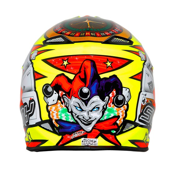 Casco moto cross Suomy MR Jump Jackpot Giallo