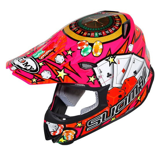 Casco moto cross Suomy MR Jump Jackpot Fuxia