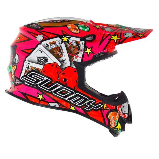 Casco moto cross Suomy MR Jump Jackpot Fuxia