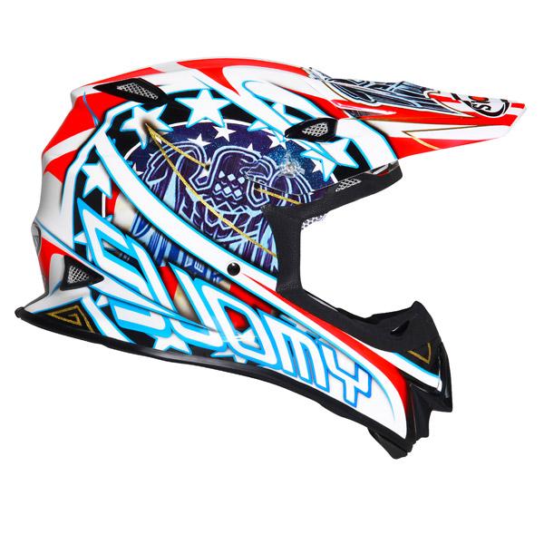 Casco moto cross Suomy MR Jump Eagle bianco