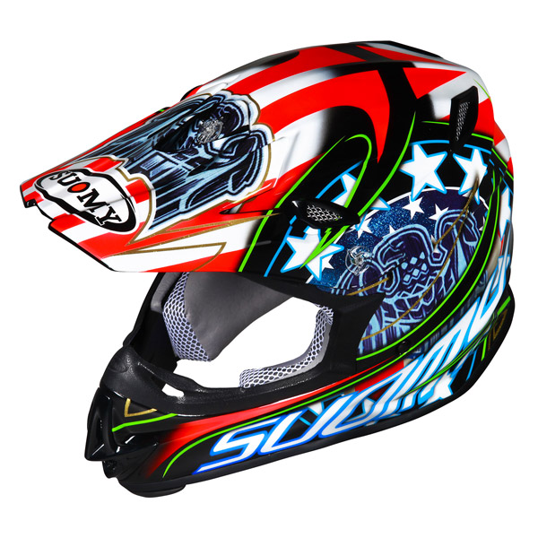 Casco moto cross Suomy MR Jump Eagle nero