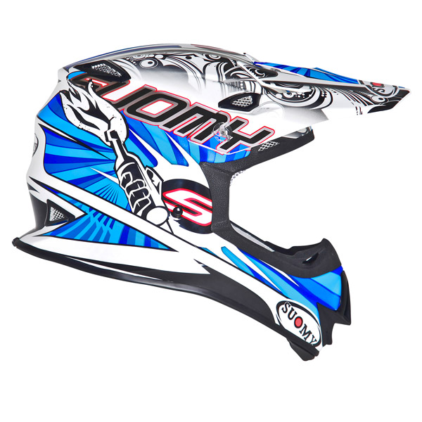 Casco moto cross Suomy MR Jump Molotov bianco