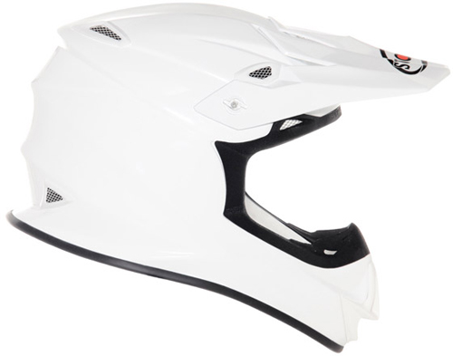 Casco moto cross Suomy MR Jump Plain bianco