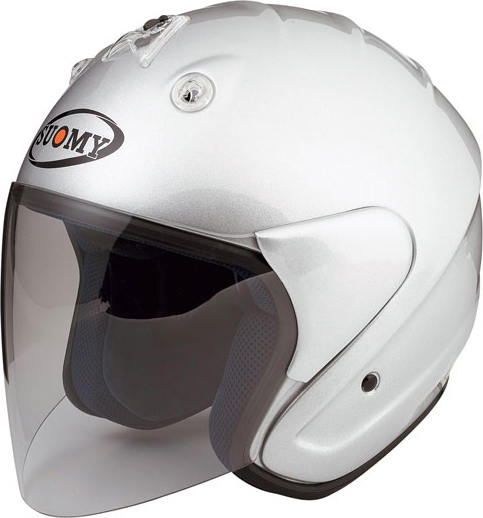Casco moto jet Suomy Nomad Plain silver