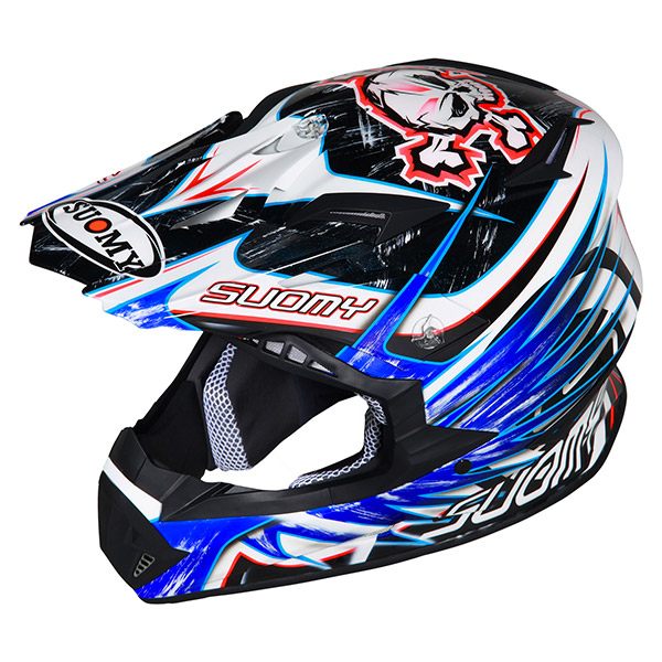 Casco moto cross Suomy Rumble Eclipse blu
