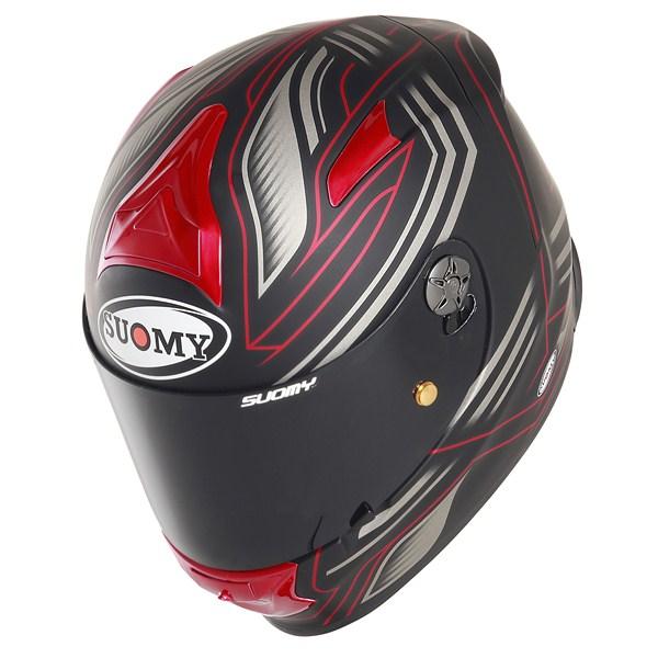 Suomy Sr Sport Racing Matt red full face helmet