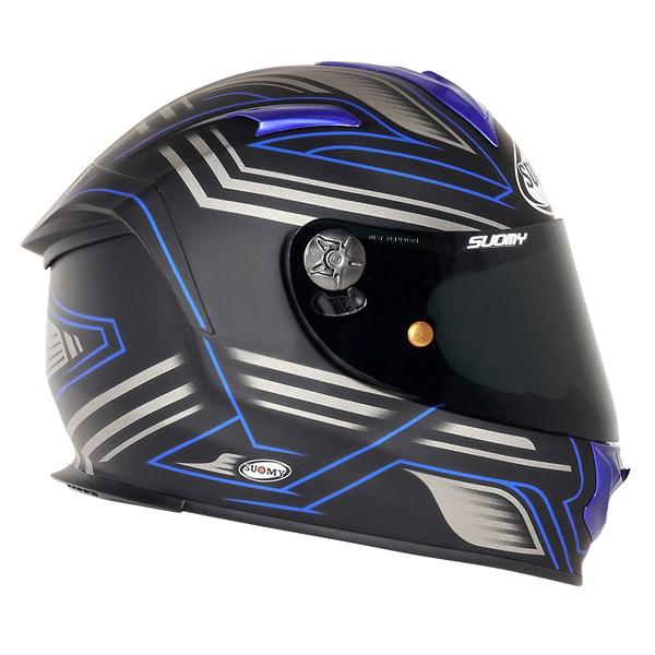 Casco moto Suomy SR Sport Racing Matt blu