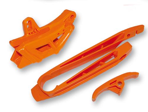 Ufo range fork and eye chain kit for KTM Black