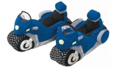 Pantofole per motociclisti blu-bianche