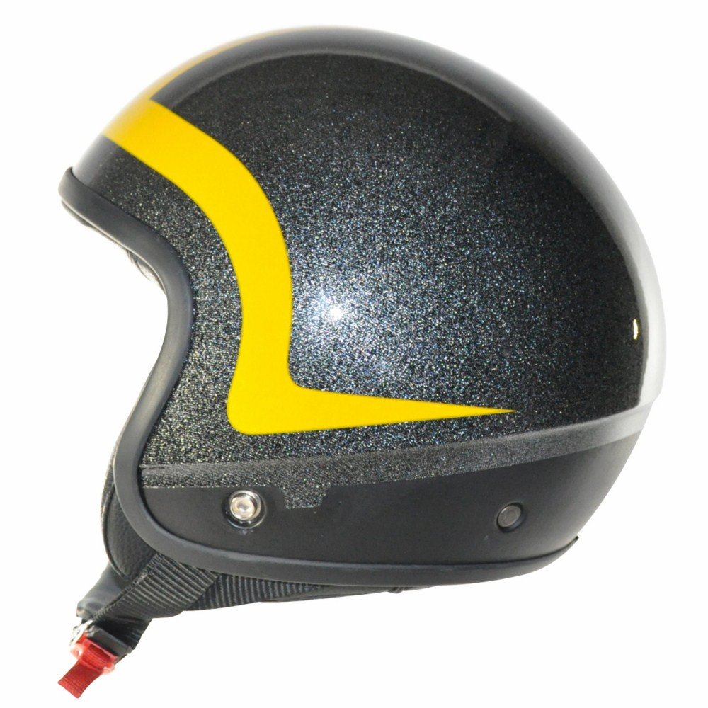 Love Helmet Cover shell Pipping Glitter black yellow
