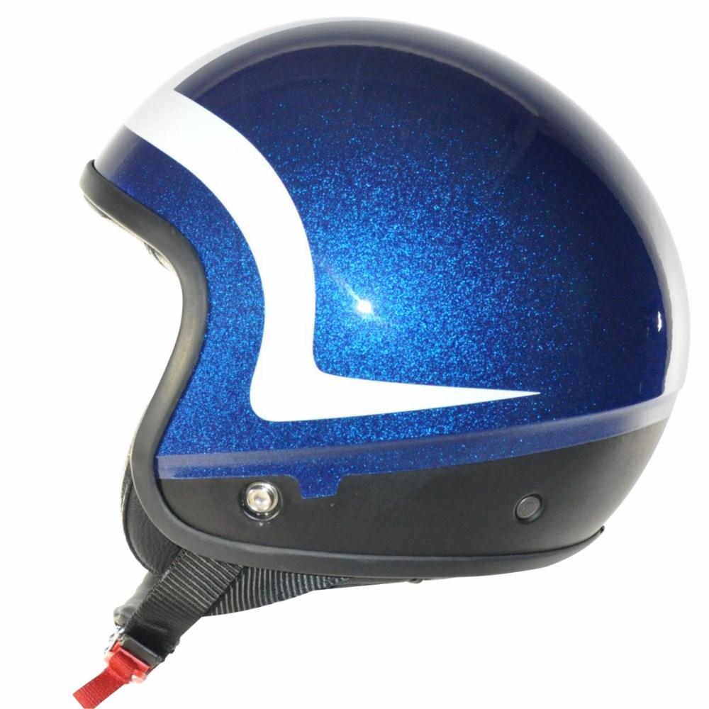 Cover Piping Glitter blu bianco casco componbile Love Helmet