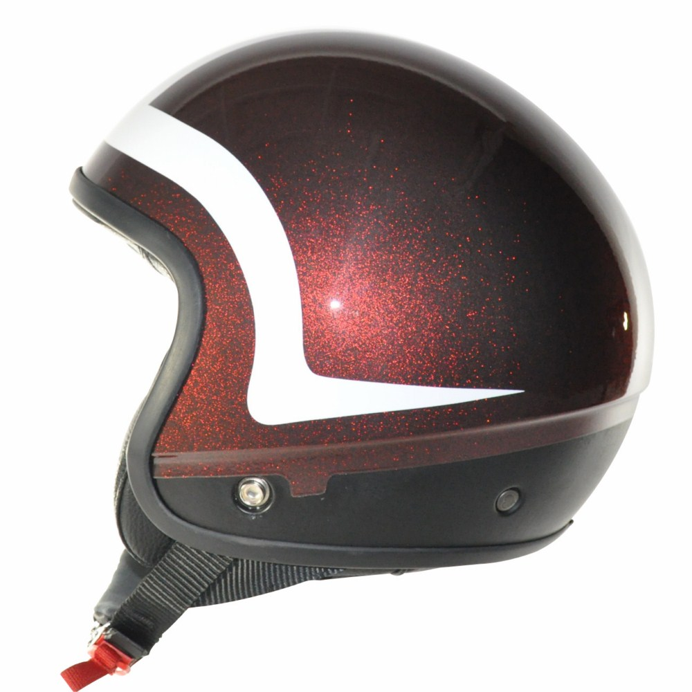Love Helmet Cover shell Pipping Glitter red white