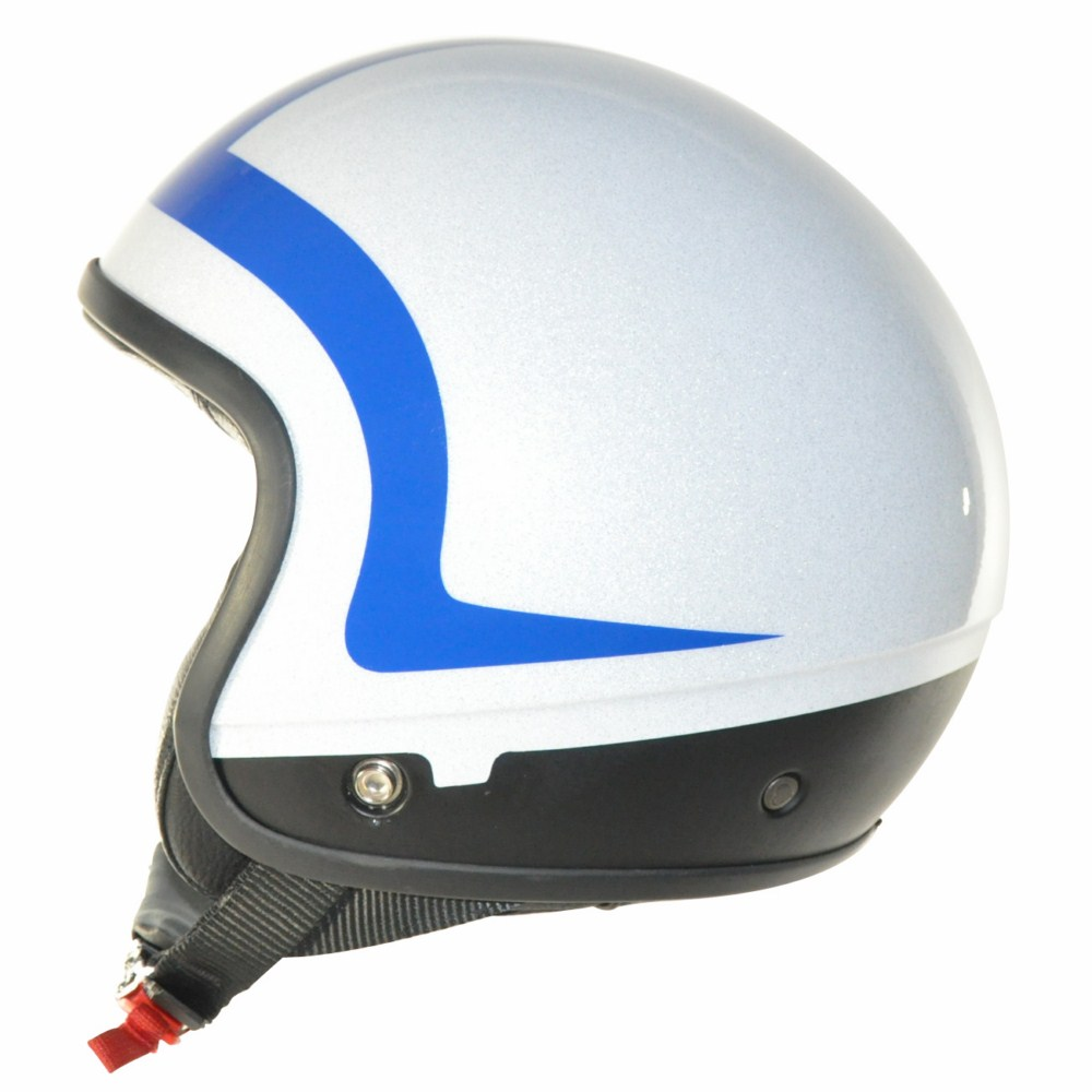Cover Piping Glitter bianco blu casco componbile Love Helmet
