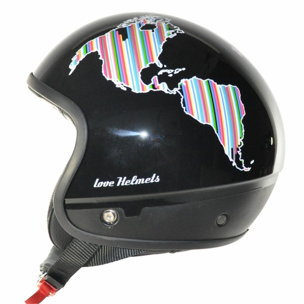 Love Helmet Cover shell Planet black