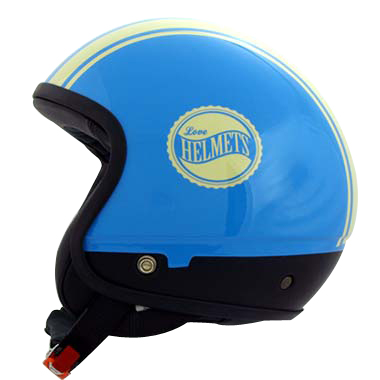 Cover Bandisde blu crema casco componbile Love Helmet