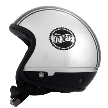 Love Helmet Cover shell Bandside silver black