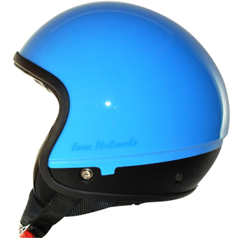 Love Helmet Cover shell Unie light blue