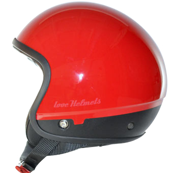 Love Helmet Cover shell Unie red